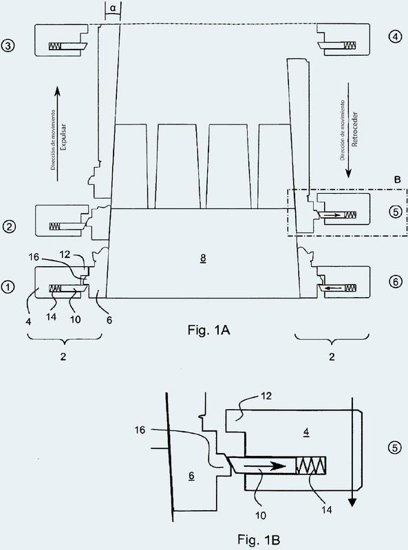 Mecanismo de desmoldeo de una herramienta de moldeo por inyección.
