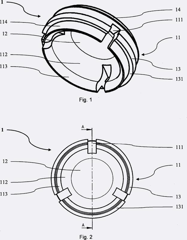 Conexión de una estructura de prótesis con una estructura de implante.