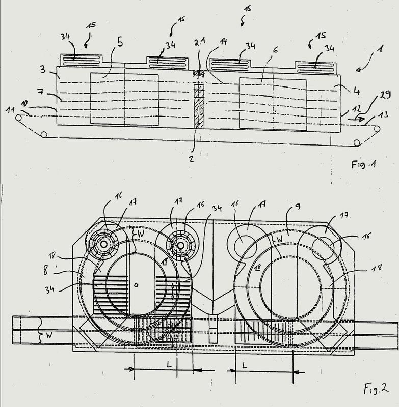 Horno y proceso para controlar el flujo de aire sobre la anchura de la cinta en un horno en espiral.