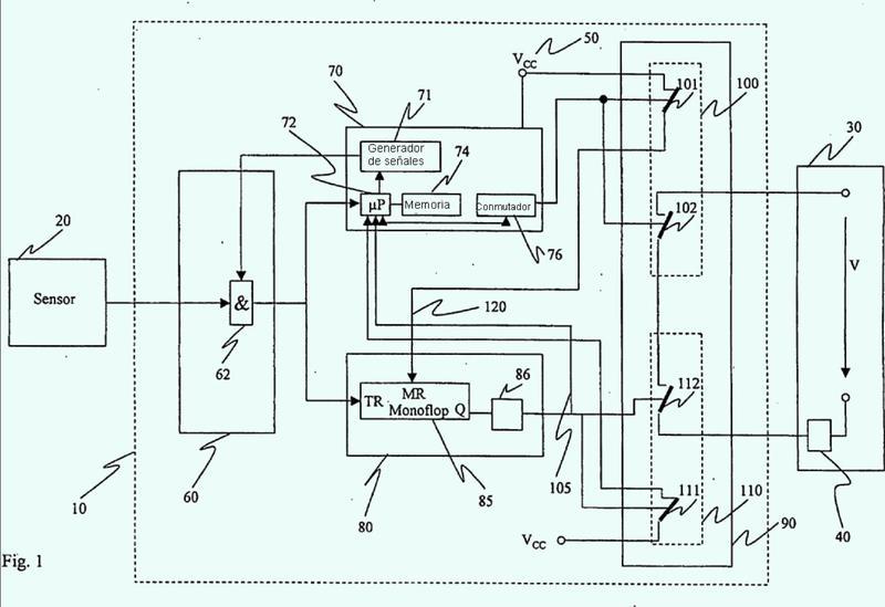 Dispositivo de seguridad para el control de varios canales de una instalación técnica de seguridad.