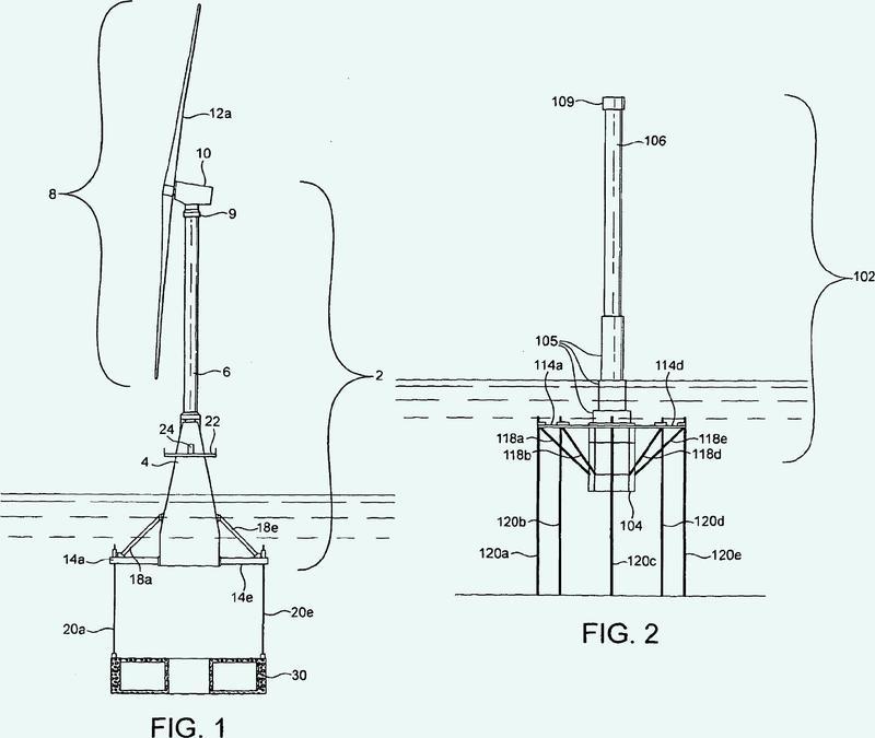 Estructura de soporte para una turbina eólica en mar abierto.