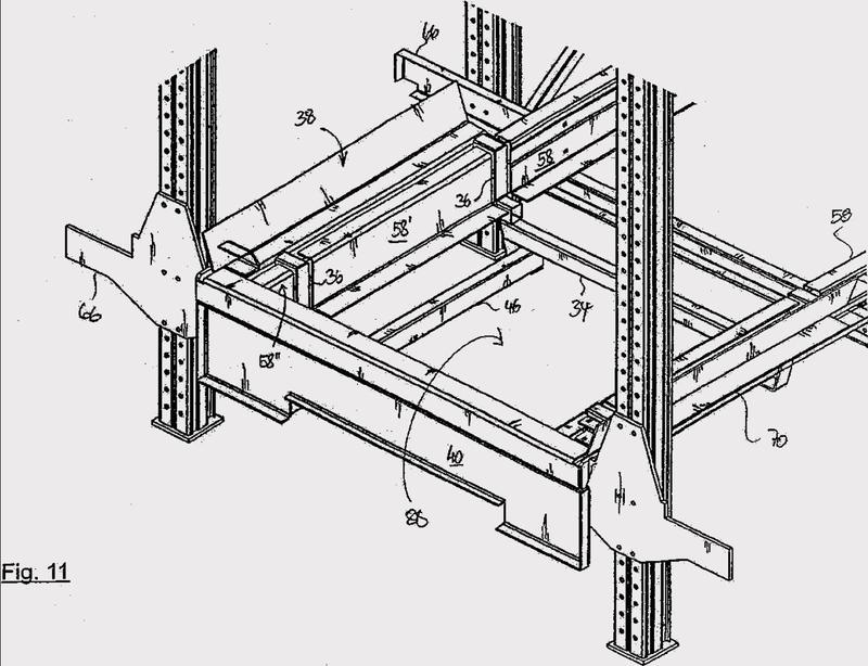 Almacén de canales para lanzaderas, estación de lanzadera y procedimiento para el accionamiento del almacén.