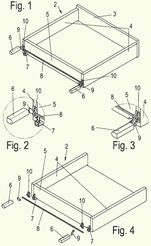 Dispositivo para abrir una parte de mueble movible.