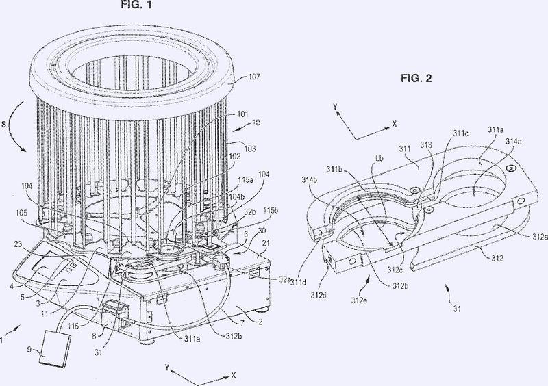 Dispositivo de distribución de un producto en una placa de Petri.