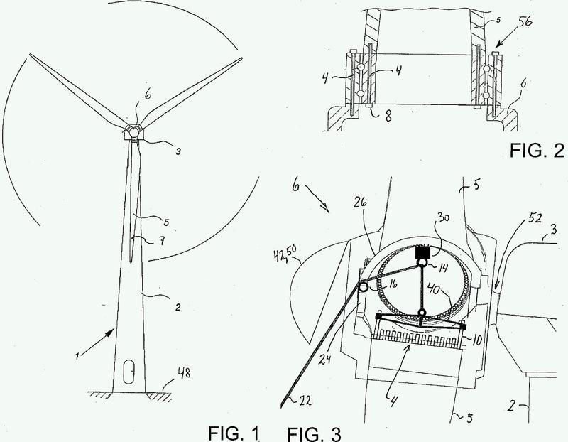 Método para manipular sin grúa una pala de turbina eólica por medio de un buje de turbina.