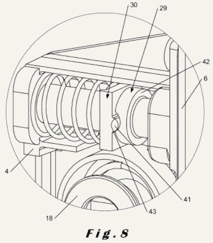 Cerradura adecuada para miembros de cierre articulados hacia la izquierda y hacia la derecha.