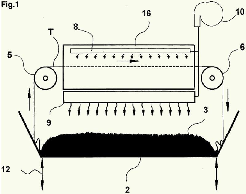 Máquina y método para tratar telas.