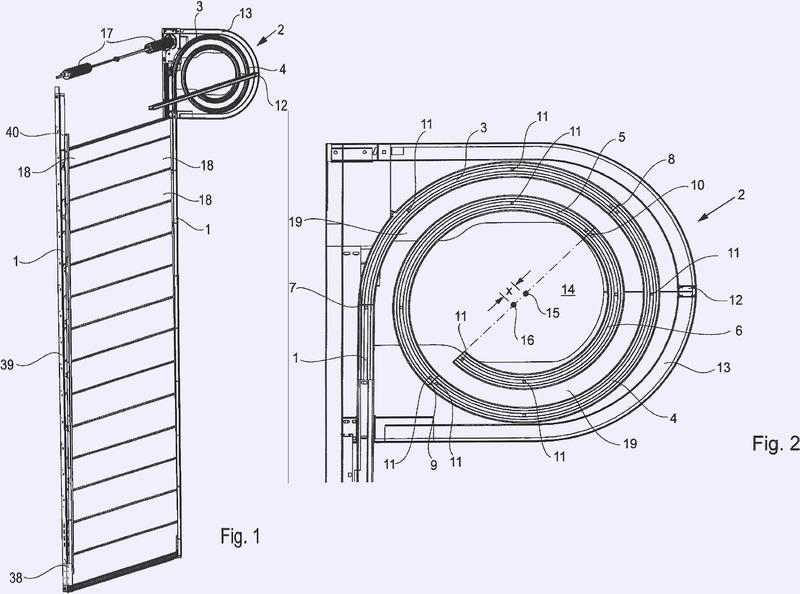 Puerta formada por elementos individuales.