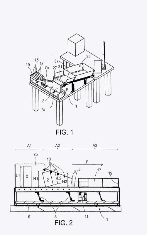 Dispositivo y procedimiento para la alineación de estructuras planas sueltas.