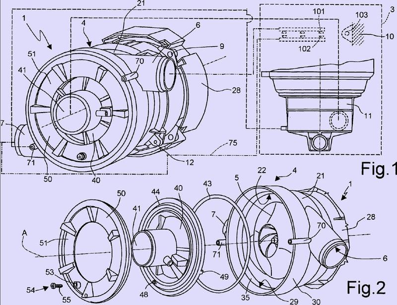 Bomba de doble entrega para un aparato electrodoméstico y un aparato electrodoméstico equipado con ella.