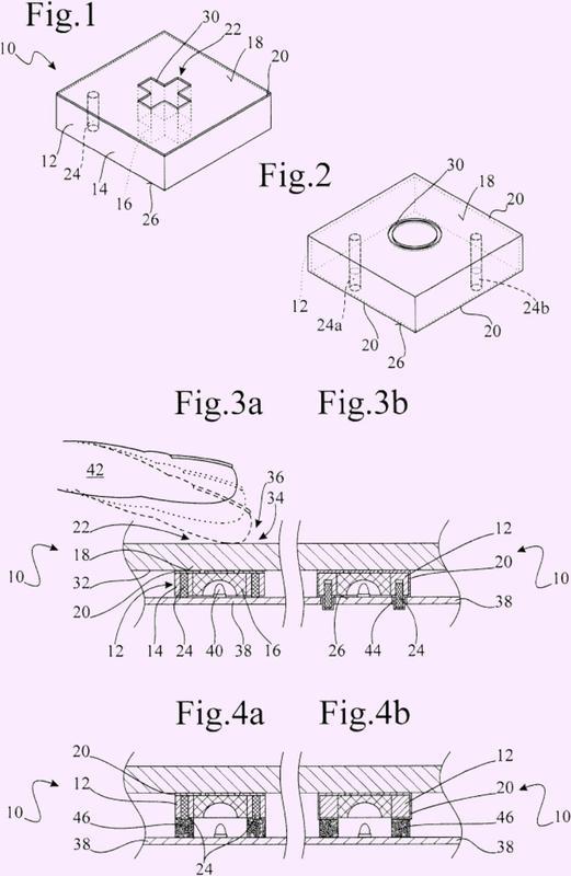 Dispositivo de elemento sensor y método para la fabricación de un cuerpo moldeado de un dispositivo de elemento sensor.