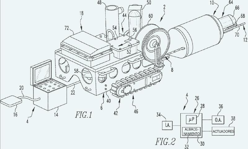 Sistema robótico de inspección submarina.