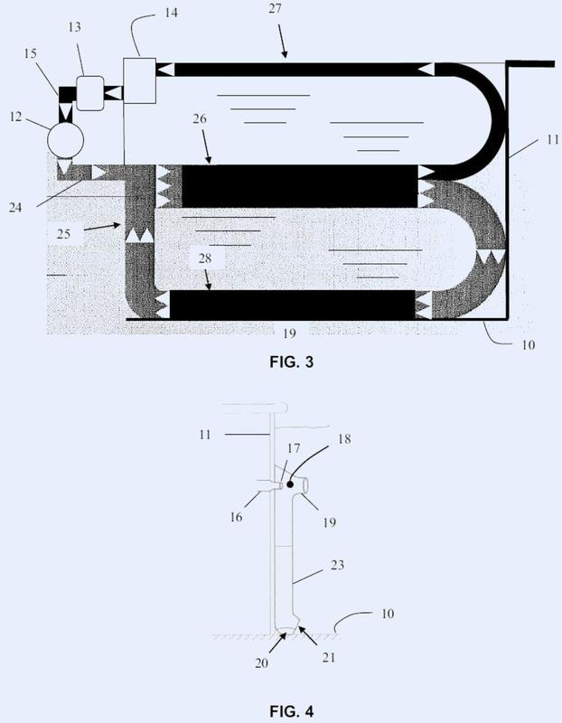 Procedimiento de filtración mejorado del agua de un recipiente.