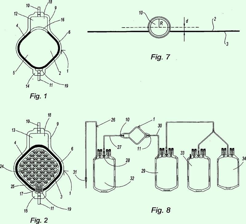 Unidad de filtración de un fluido que tiene una interrupción de sello.