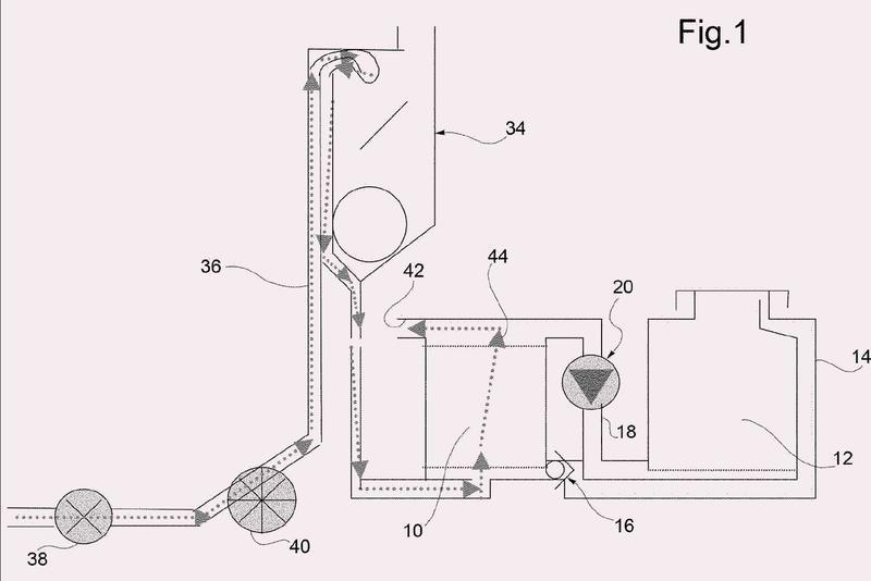 Dispositivo de ablandamiento de agua con regeneración de bucle cerrado.