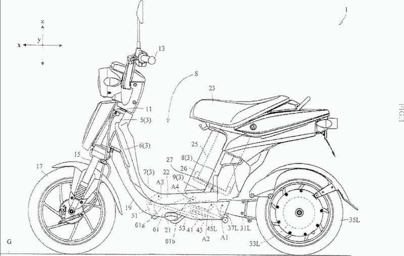 Vehículo de propulsión eléctrica de dos ruedas traseras.