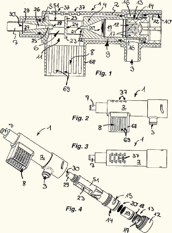 Dispositivo antirreflujo para una ducha higiénica.