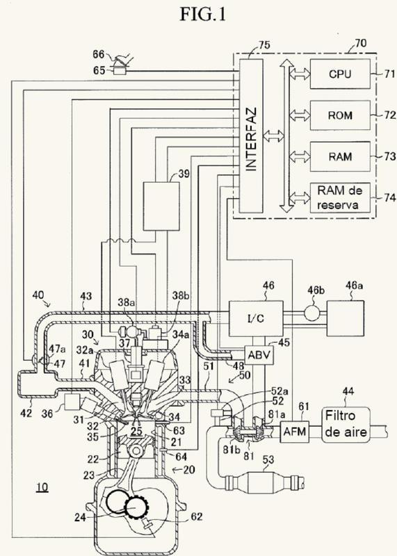 Un motor de combustión interna.