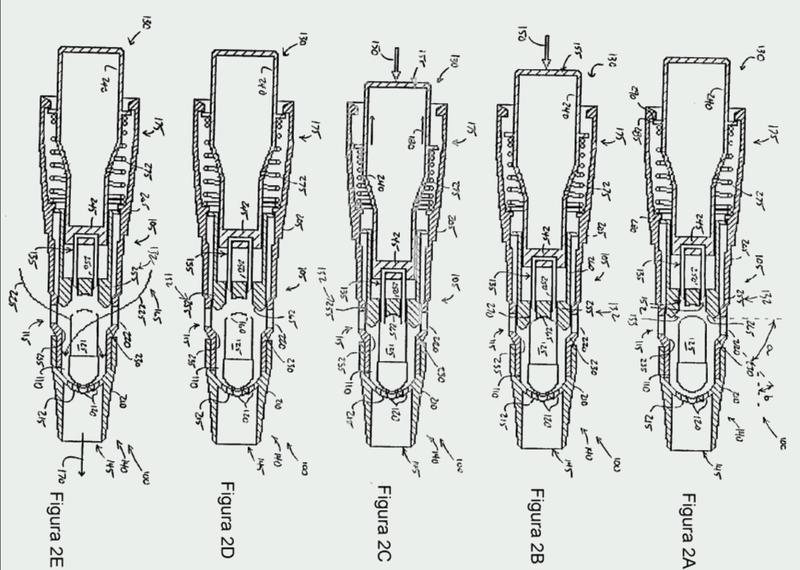 Aparato de aerosolización con guía de alineación para la perforación de la cápsula.
