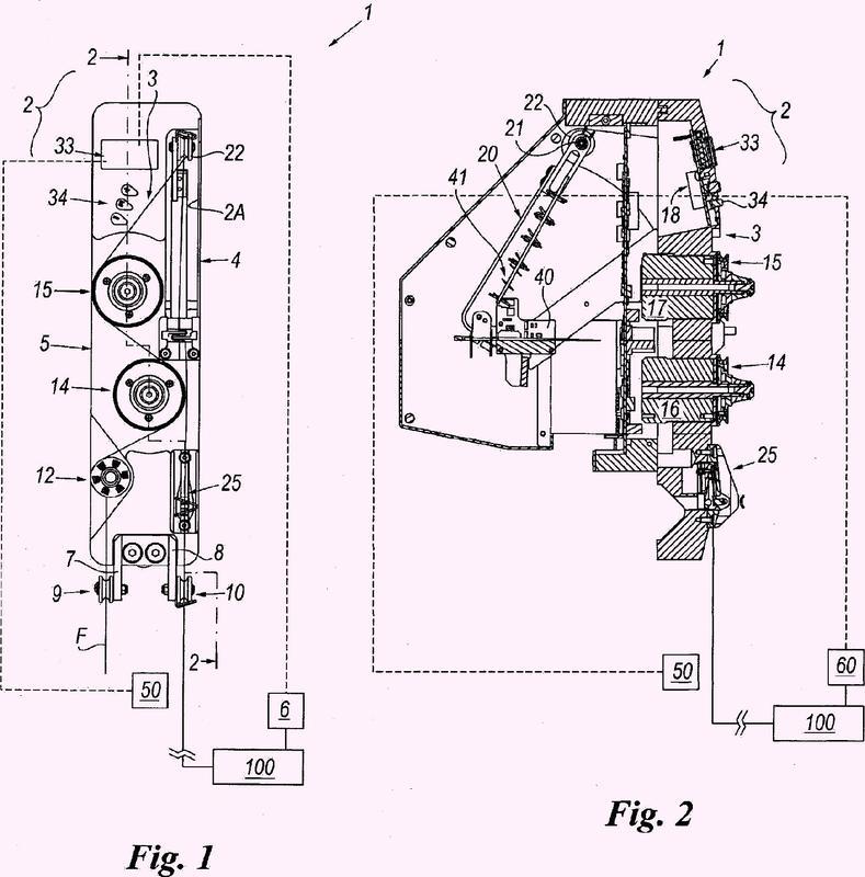 Sistema y procedimiento para suministrar hilos metálicos a tensión constante.