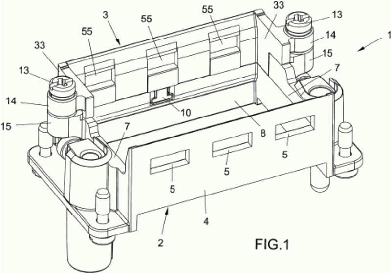 Construcción de bastidor de soporte para conectores modulares.