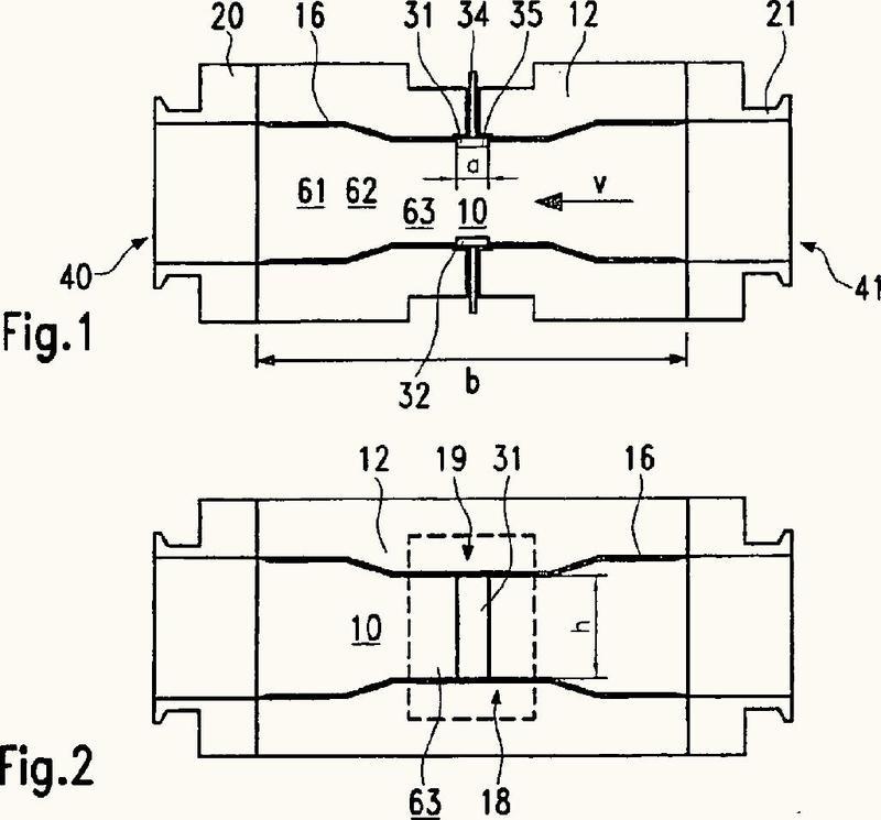 Dispositivo para la determinación del grado de llenado con un fluido.