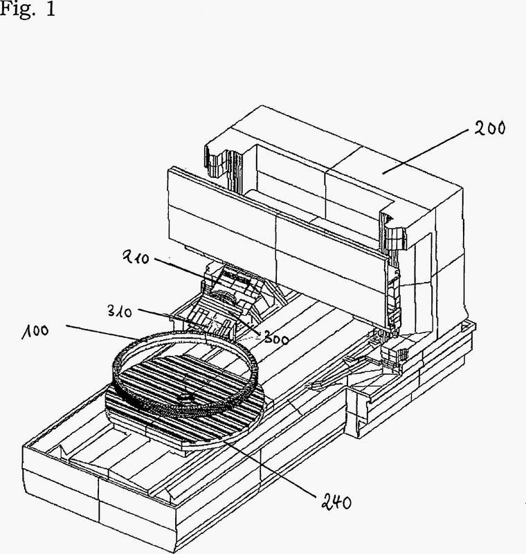 Dispositivo para la mecanización por laminación de una pieza de trabajo empotrada en una máquina herramienta y procedimiento para la fabricación de una pieza de trabajo que presenta un dentado.