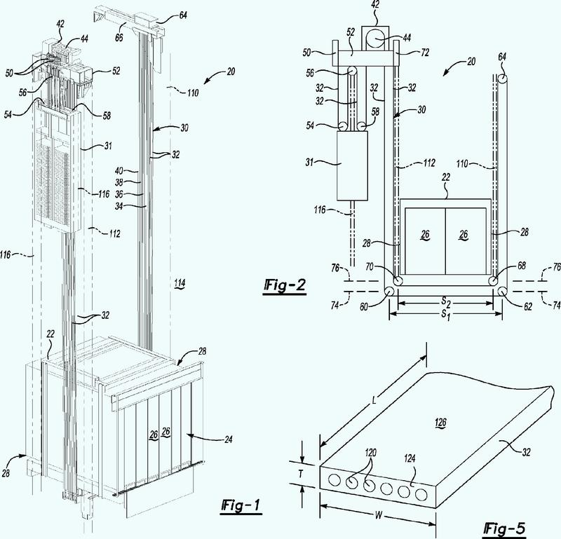 Sistema de ascensor que incluye una disposición de cableado 4:1.