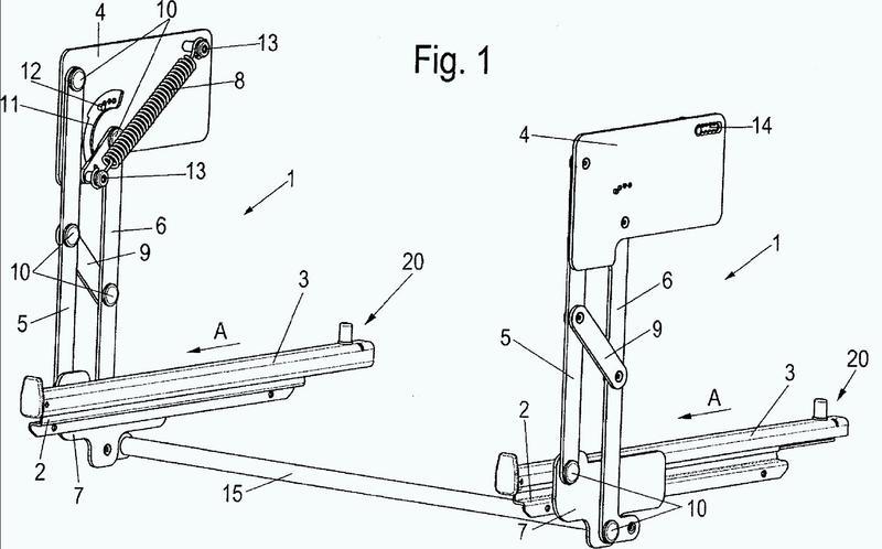 Dispositivo para la regulación de la altura de una bandeja guiada en un aparato electrodoméstico sobre al menos una guía extensible.