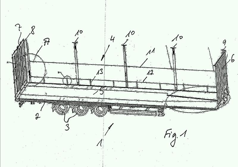 Estructura de vehículo para el transporte de mercancías de transporte a granel o apilables.