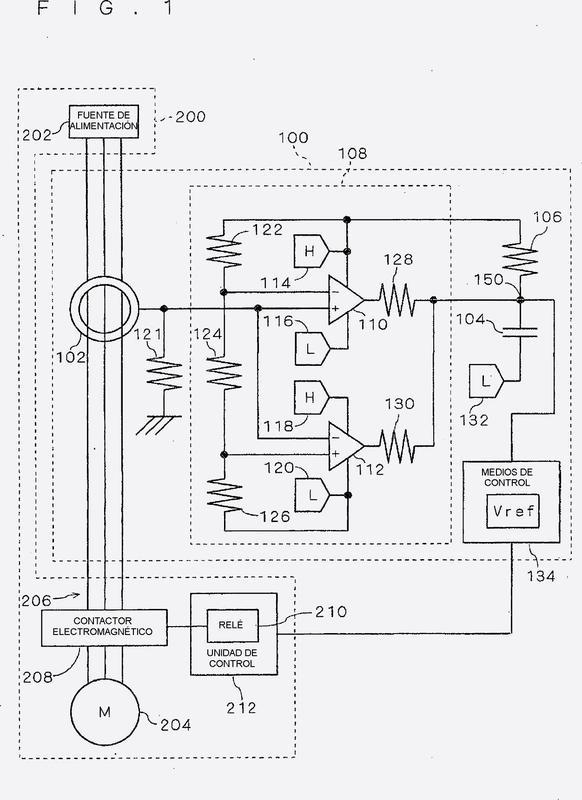 Circuito de detección de fuga eléctrica.