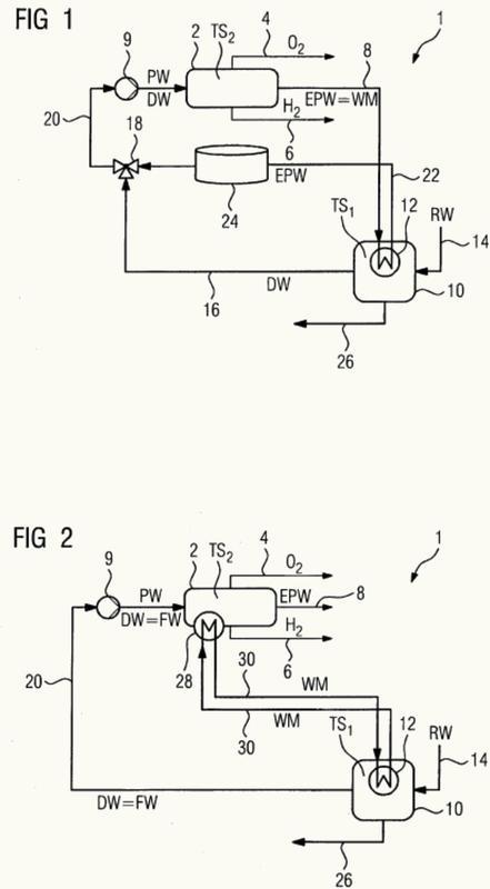 Procedimiento de operación de un sistema de electrólisis.