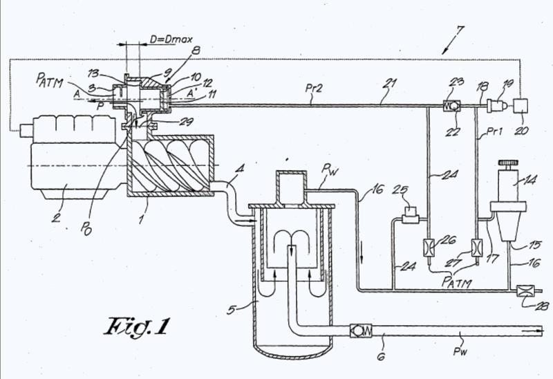 Dispositivo mejorado para ajustar el caudal de un compresor de tornillo móvil con inyección de aceite.