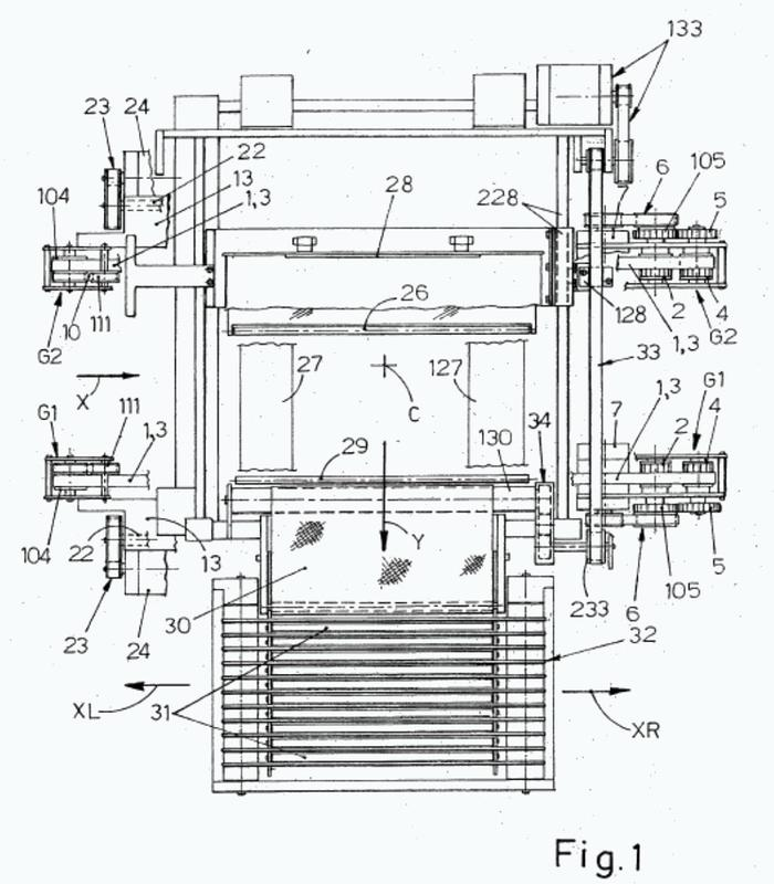 Máquina para el envasado automático de productos a granel o productos colocados en bandejas, con una película estirable generalmente termosoldable.