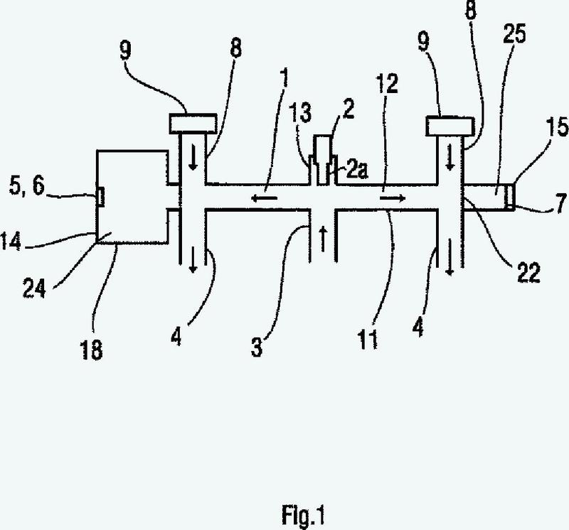 Dispositivo y procedimiento de medida de la opacidad y de los óxidos de nitrógeno en los gases de escape.