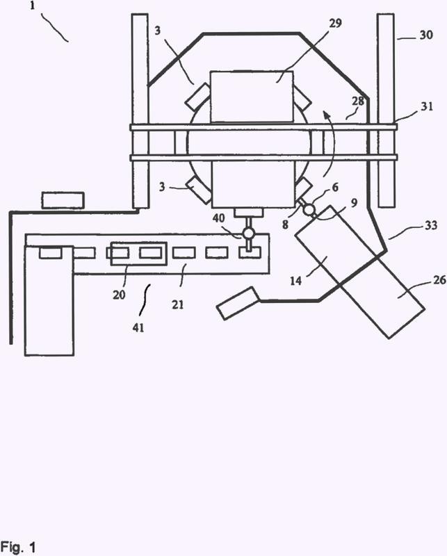 Máquina envasadora y procedimiento para el llenado de sacos abiertos.
