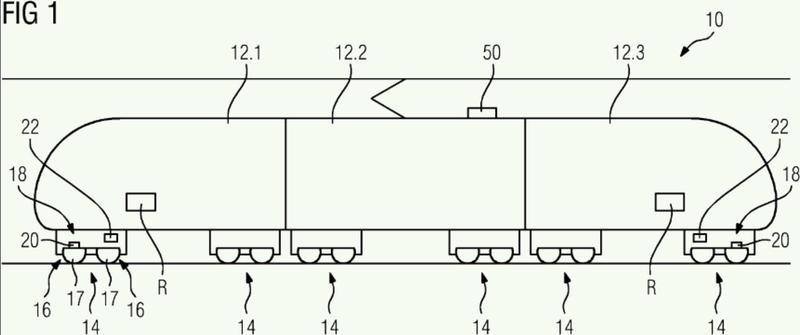 Procedimiento para determinar al menos una velocidad en un vehículo sobre raíles.