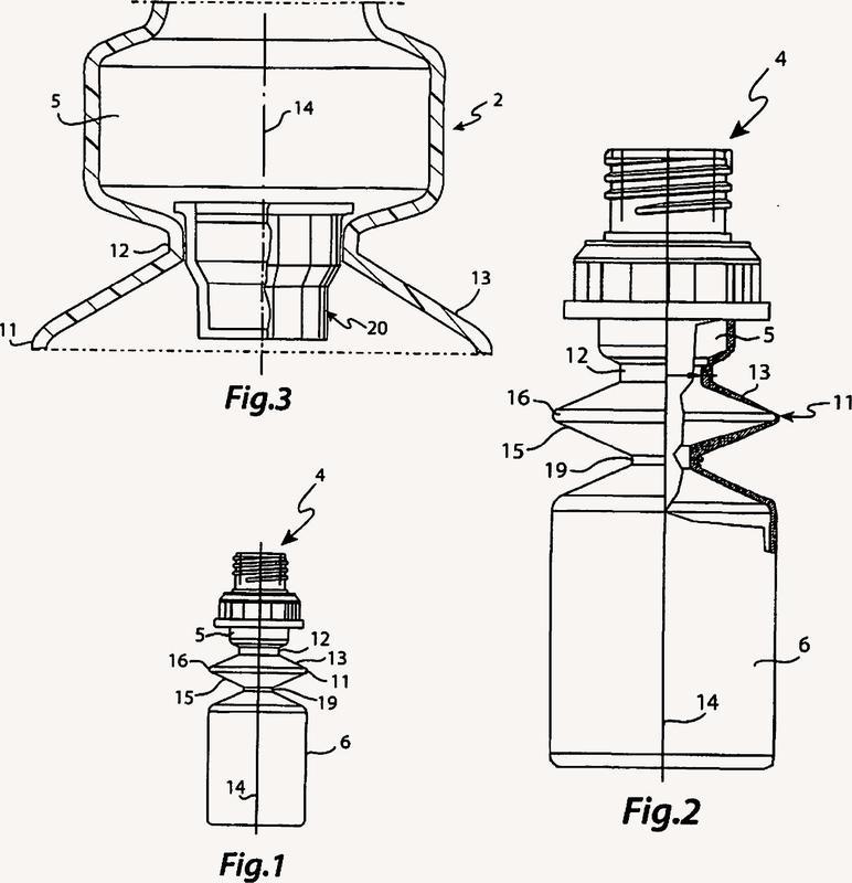 Dispositivo para la conservación de sustancias que han de mantenerse separadas hasta su aplicación.