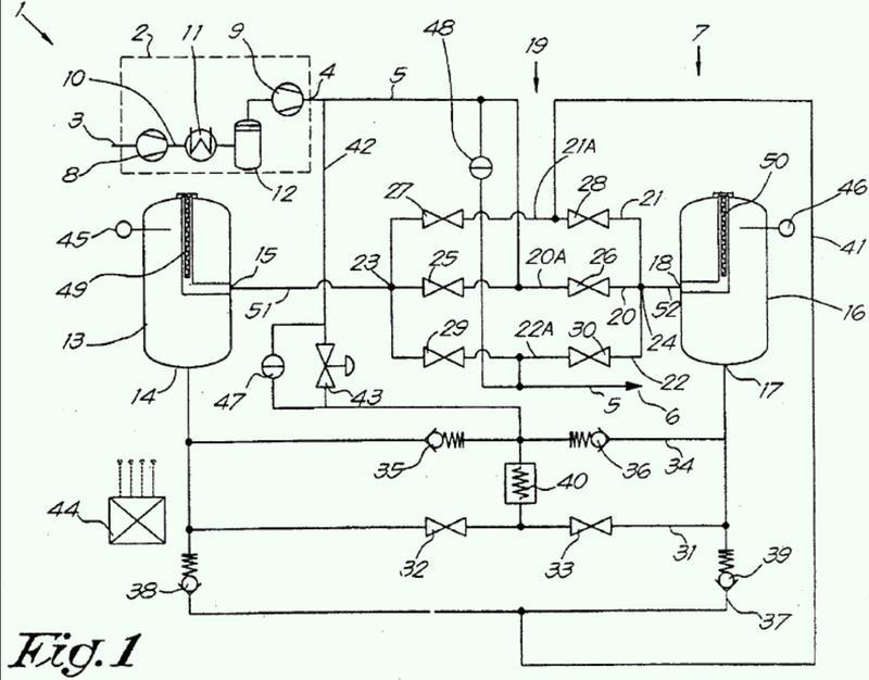 Método para secado de un gas comprimido.