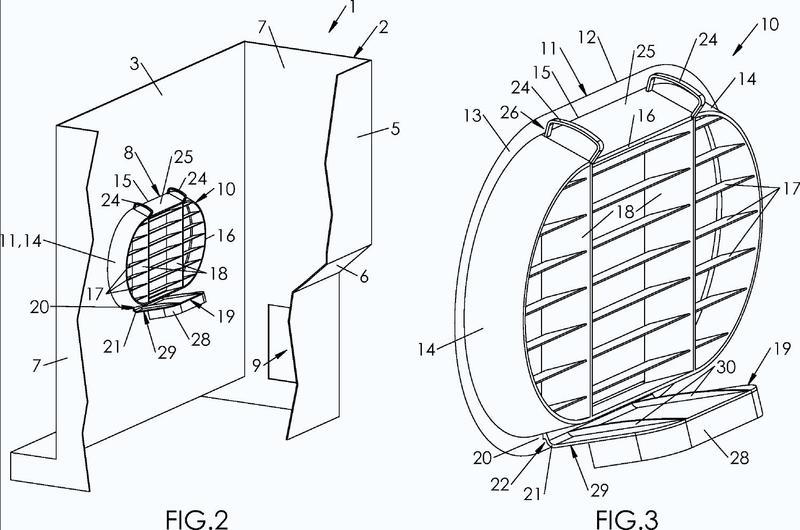 Rejilla deflectora para un sistema de aireación de un vehículo automóvil.