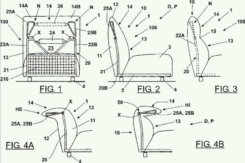 Pieza con configuración ajustable para la realización de reposabrazos y respaldos para asientos.