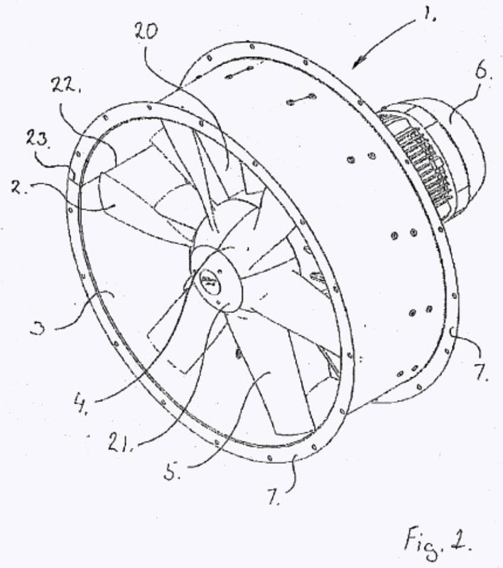 Un sistema para la construcción de un ventilador axial.