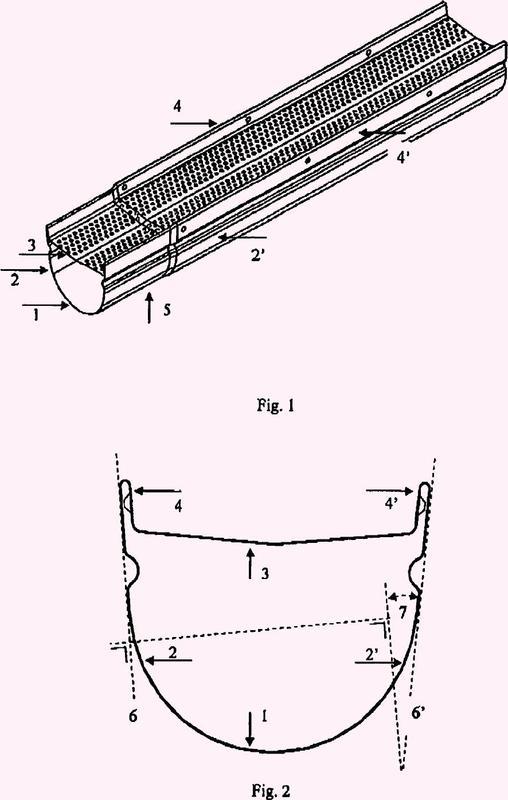 Elemento para canal de desagüe tubular.