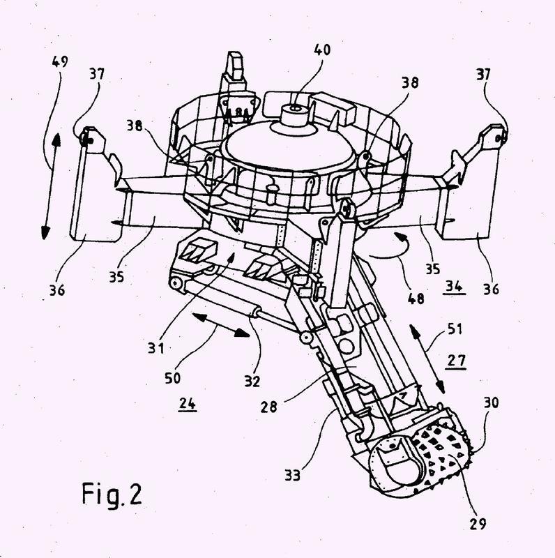 Módulo oscilante para uso cuando se produce un cimiento submarino de una estructura.