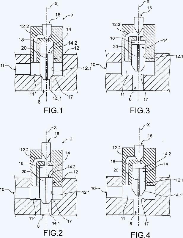 Dispositivo de mando de la alimentación de un sistema con un fluido.