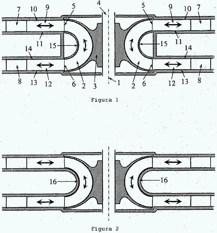 Turbina con rotor dotado de entrada y salida radiales para su uso con flujos bidireccionales.