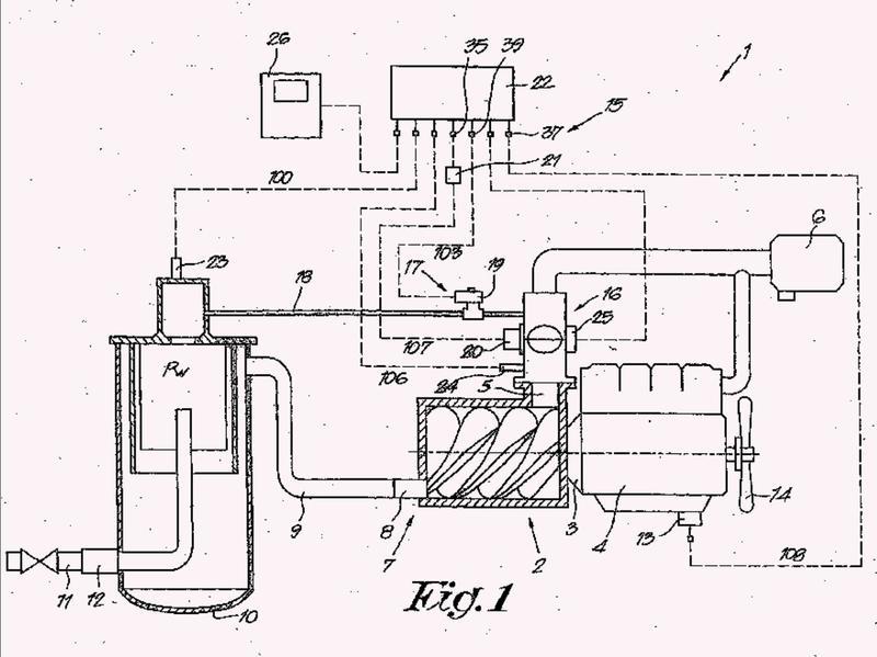 Dispositivo para regular la presión operativa de una instalación compresora de aceite inyectado.