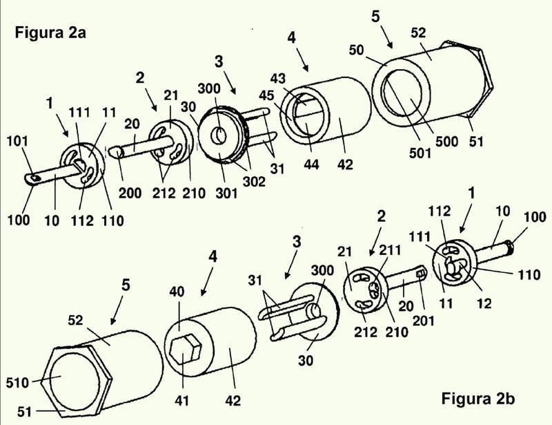 Dispositivo de unión para la unión temporal de dos piezas que tienen preferentemente forma de placa así como aguja para un dispositivo de unión de este tipo.