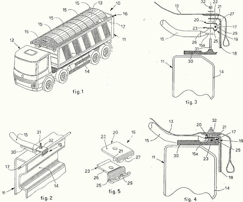 Dispositivo de cubrimiento para la caja de unos medios de transporte.