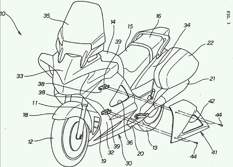 Estructura de carenado de motocicleta.